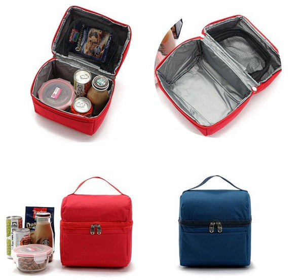 Nylon Lunch Cooler Box Thermal Bags Women's Lovely Insulation Kids  Insulated  Portable Thermal Bags for Food