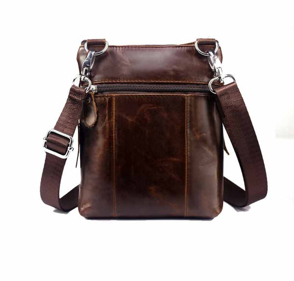 MEN'S FAMOUS casual CROSSBODY BAGS MALE BAG FASHION GENUINE LEATHER MINI SHOULDER BAGS FOR MEN