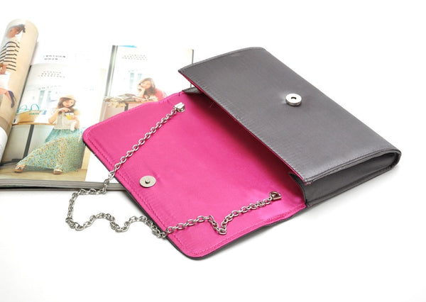 New Single shoulder bag new elegant satin Casual Clutch braiding clamshell hand  chain dinner ladies' Evening Bags 50