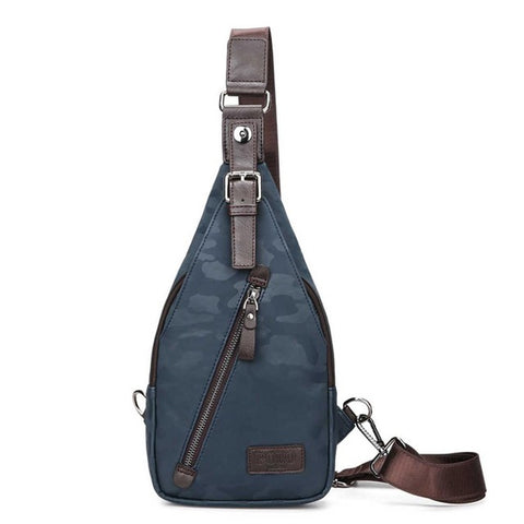 cf67f17b7d8 Famous Brand Theftproof Magnetic Button Open Leather Mens Chest Bags  Fashion Travel Crossbody Bag Man Messenger