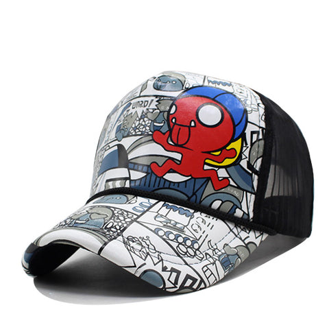 Snapback Women Baseball Cap Casquette Cartoon Hat For Men Bone Sunscreen Fashion Gorras Casual Hip-Hop 5 Panel Sun Hat