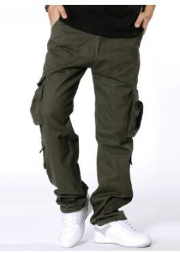 NEW Arrival Men's Pus Size Multi-pocket Cargo Pants Loose and Casual Pants Big Size Male Long Trousers