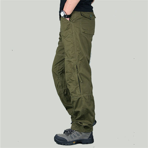 New Spring Tactical Cargo Outside Military Pants Men's Combat Army Military Pants Cotton Trouser Workwear sweatpants