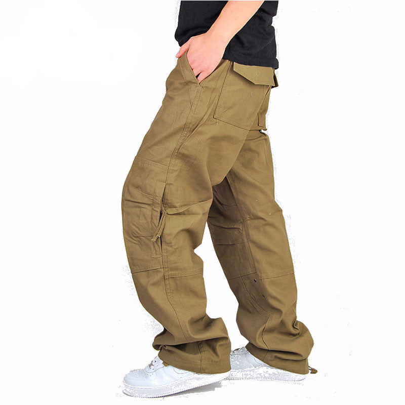 New Brand Mens German Army Military Men's Cargo Pants for Men More Pockets Zipper Trousers Outdoors Overalls Big Size 30-40