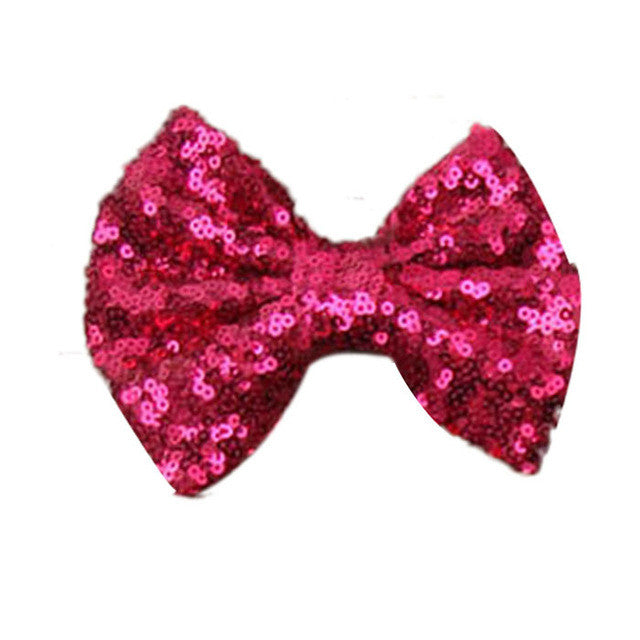 New  Sequin Barrettes Cute  Girl Big Bow Hair Accessories for  shipping
