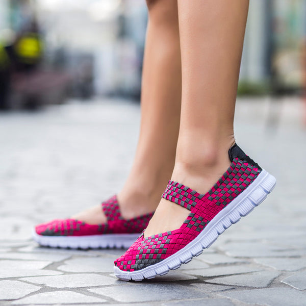 35-42 Size 2017 Summer Fashion Women Casual Shoes Light Breathable Handmade Women Woven Shoes Soft Comfortable  Women Shoes