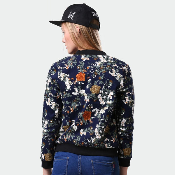 Women Floral Jacket New fashion Women Jacket Ladies Stylish Floral Printed Casual One Button Slim Suit Coat Outwear