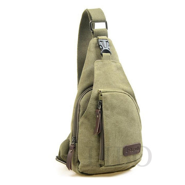 Fashion New Brand Vintage Men Messenger Bags Casual Casual Chest Canvas Male Small Retro Military Shoulder Bag