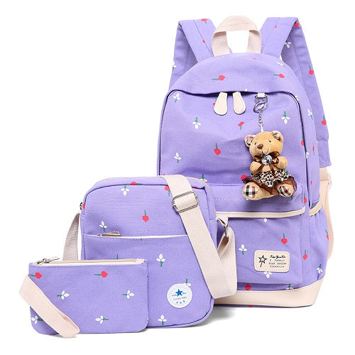 Women Backpacks Casual Printing School Backpack Female Canvas Schoolbags for Teenage Girls Travel Students Bag