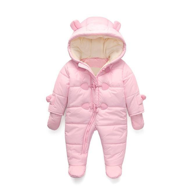 c76564f6547f Keep Thick warm Infant baby rompers Winter clothes Newborn Baby Boy ...