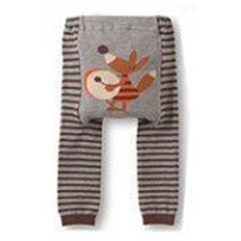 Cute Baby Kid Infant Toddler Newborn Cartoon Striped Leggings Long Pants 6 Colors