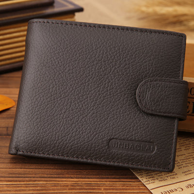 Men Wallets Genuine Leather Bifold Wallet Fashion Design Brand Casual Style Multifunction Male Card Holder With Coin Purse