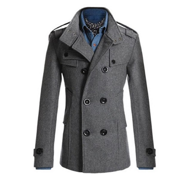 Trench Coat Men Classic Men's Double Breasted Masculino Trench Clothes Long Jackets Coats British Style Overcoat 3XL Plus Size H
