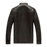 Factory Men's Genuine Leather Jacket For Men Real Matte Goat Skin Fashion Brand Black Male Coat Plus Size 4XL