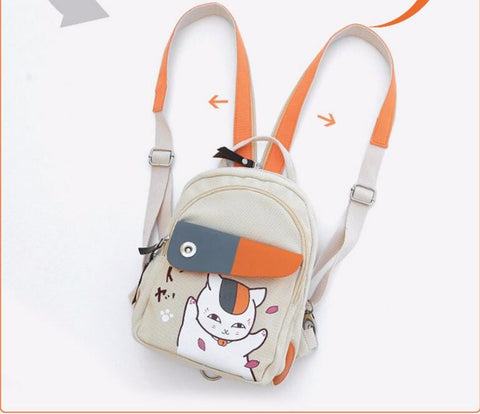 Backpack Canvas Shoulders Bag Children Schoolbags Unisex Canvas Anime Travel Bag