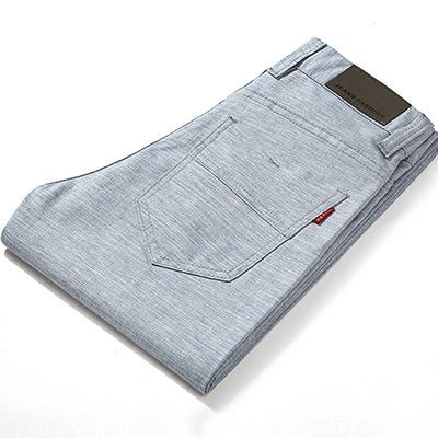high quality Men's Linen Pants men Casual summer  thin trousers Men pantalones male pants Size 38