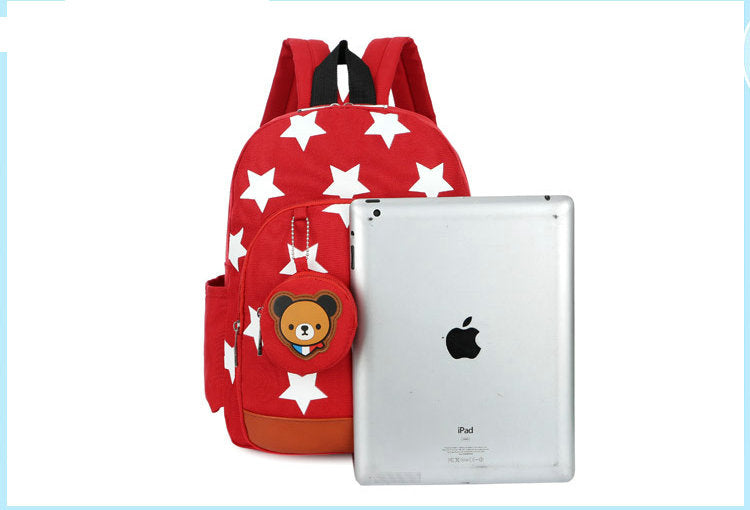 4bbe32586b49 Boys Backpacks for Kindergarten Stars Printing Nylon Children Backpacks  Kids Kindergarten School Bags for Baby Girls ...