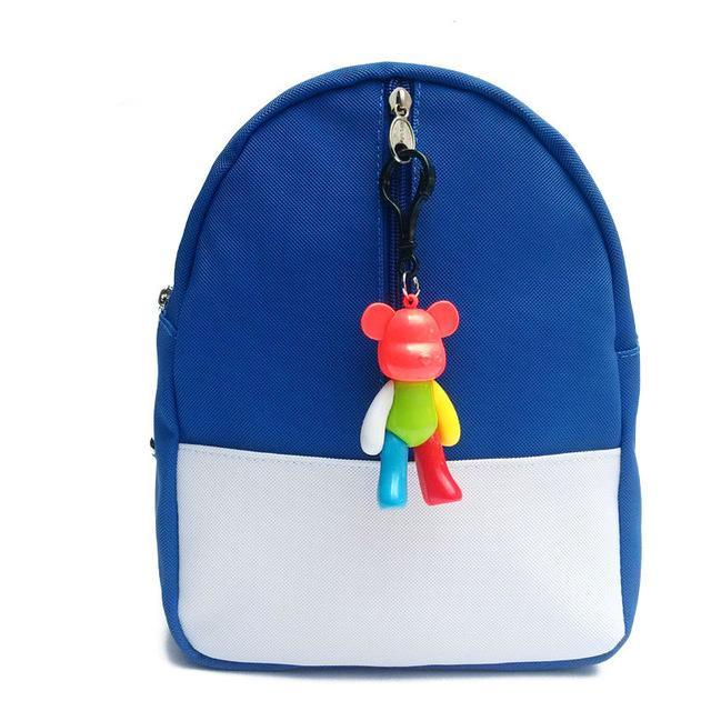 version candy color backpack kids baby bag cute animal bear zipper children PU school bag for kindergarten boy girls gift