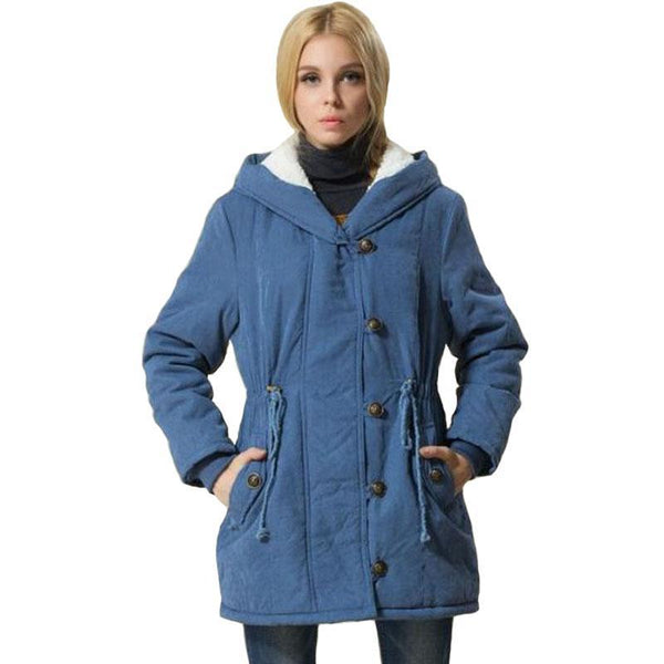 1PC Winter Jacket Women Fleece Wadded Winter Coat Women Plus Size Hooded Outerwear Jaqueta Feminina Inverno Chaquetas Mujer Z798