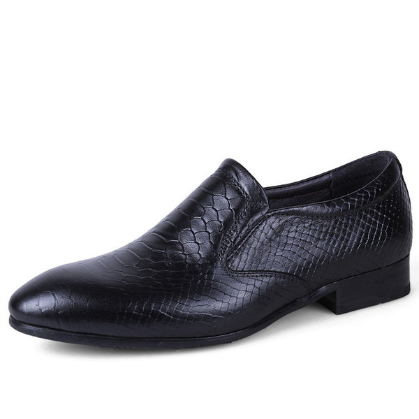 Fashion Italian luxury men shoes casual oxfords black brown designer Dress shoes genuine leather shoes men flats office wedding