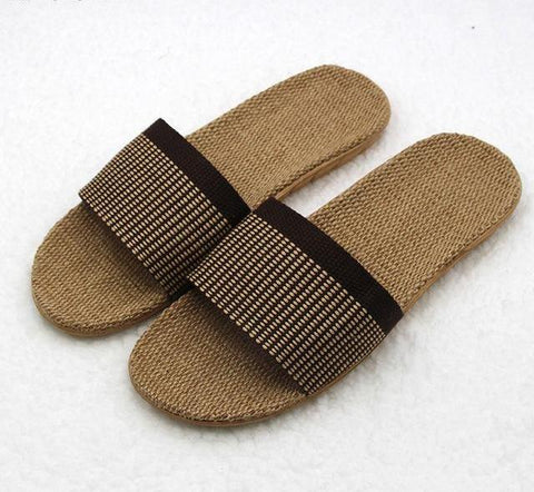 High Quality The New Summer Home Slippers Indoor Shoes Flax Slippers Non-Slip Candy Colors men Soft Botton Slippers