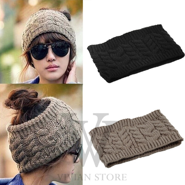 Hot Fashion Women Lady Girl Warm Winter Cap  Knitted Empty Skull Hat Hat NEW Hair Band Accessory Free Hot
