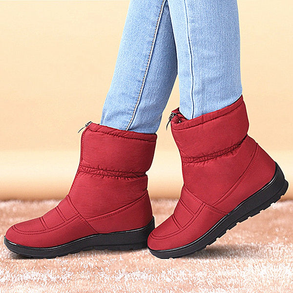 Winter Women Boots Female Waterproof Ankle Boots Down Warm Snow Boots Ladies Shoes Woman Zipper Fur Insole Free Botas