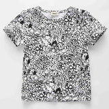 Little J Boys Gray Tree Cotton T Shirt Kids Brand Design Cartoon T-shirts Brother Baby Boy Short Sleeve O-neck Top Clothing