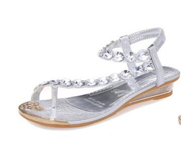 POADISFOO Summer sandals women flat sandals toe sandals Bohemia fashion women 's shoes .HYKL-8809-1