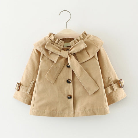 Fashion Spring Autumn Children Coat&Outerwear Baby Girls Jacket Kids Girls Temperament Solid Full Sleeve  Outfits HW1104