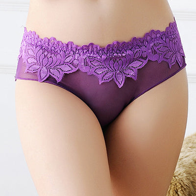 Lace Sexy Sheer Women Underwear Panties Female Calcinha Underwear The high quality women's Briefs