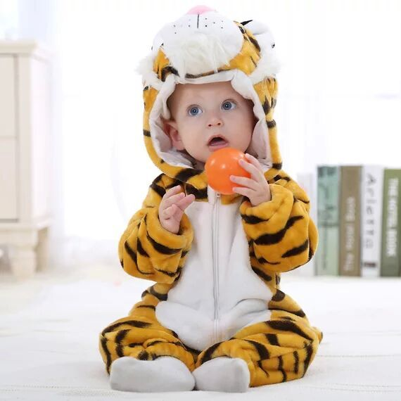 ... Baby romper jumpsuit Cartoon tiger baby animal costume newborn kids  girl clothes hooded suit infantil boy ... dec5f3d05113