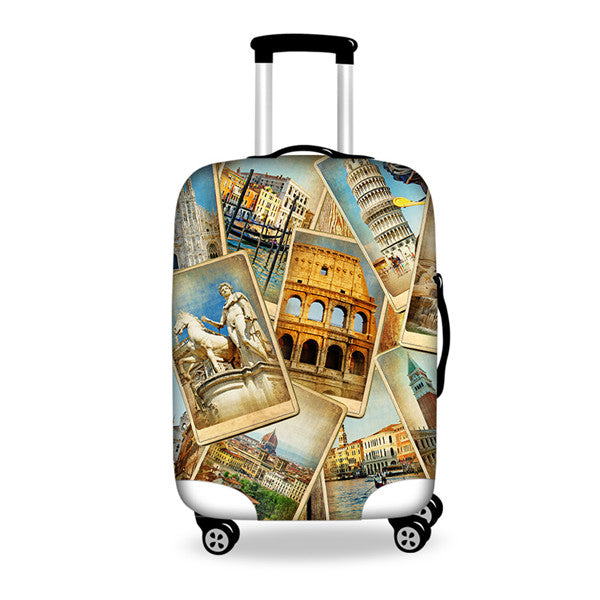 INSTANTARTS Thickened Luggages Protective Cover for 18-30 Inch Trolley Cases Waterproof Elastic Suitcases Bag Dust Rain Covers