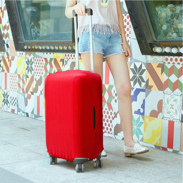 2017 SAFEBET Candy Color Luggage Cover For 20-28 inch Suitcase Dustproof Trolley Case Travel Accessories
