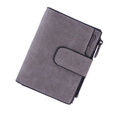 Mara's Dream Lady Short Clutch Wallet Letter Snap Fastener Zipper Solid Vintage Matte Women Wallet Female Purse Short Purse