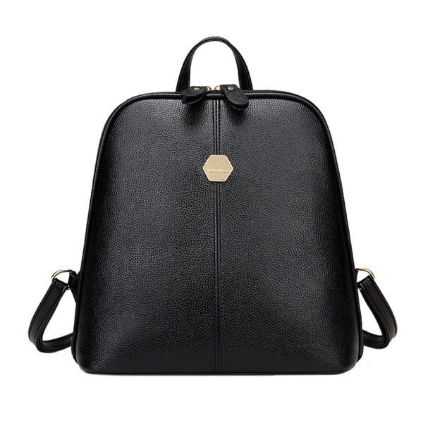 Fashion Women PU Leather Mini Backpack Rucksack Girls School Bag Three Colors Available