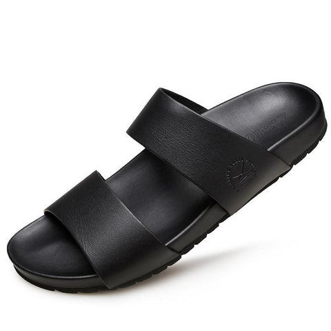 New Summer Men Slipper Leisure Beach Slippers Rubber Soles Waterproof Non-slip Sandals Male flip-flops size 39-44