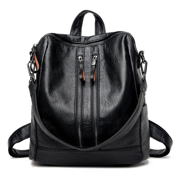 New Fashion Soft Genuine Leather Backpack Women Brand Ladies Backpacks for Teenage Girls Casual School Bag