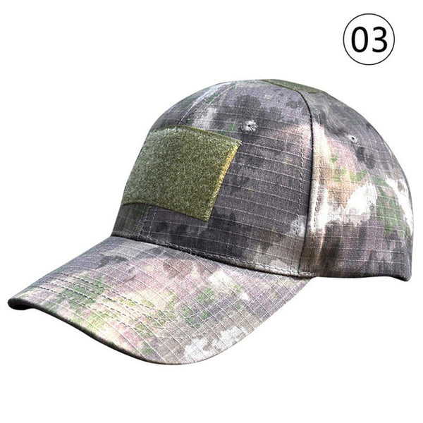 Digital Camo Tactical Camouflage Flag Patch Baseball Cap Hats Multi-pattern Outdoor Sports Hunting Caps Hunting Clothing