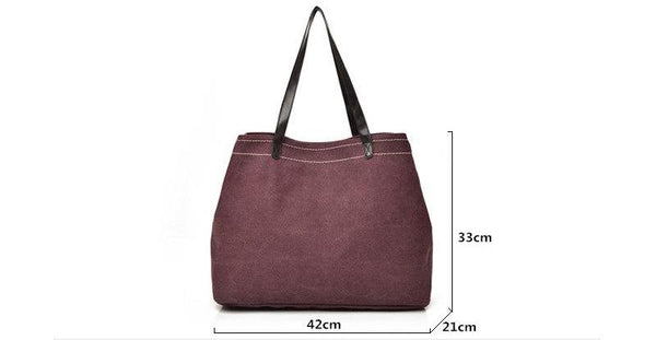 Women Canvas Handbag Ladies Simple Canvas Shoulder Bags Women Shopping Bag Large Beach Tote Big Capacity Travel Bag