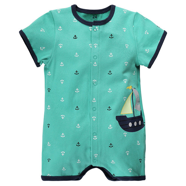 36831e227f1a8 Baby Rompers Summer Baby Girl Clothes 2017 Baby Boy Clothing Fashion  Newborn Baby Clothes Roupas Bebe Infant Jumpsuits