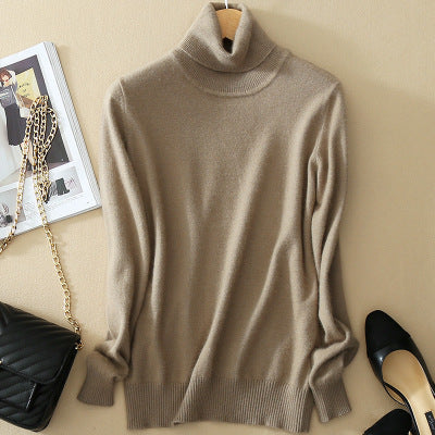 ea294be0c ... High Quality Women Cashmere Sweater Turtleneck Pullover Winter Solid Knitted  Sweater Autumn Female Sweater Hot Sale