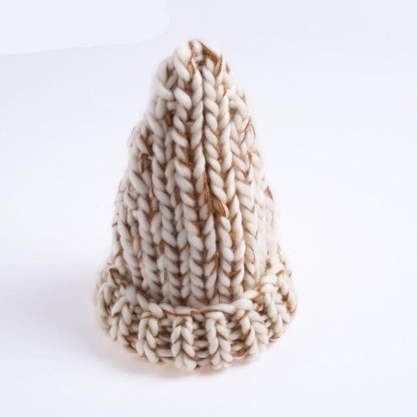 knitting wool hats Bobble hats women skullies beanies Warm hat autumn cap winter hat female