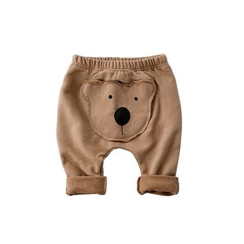 Soft baby pants cartoon bear PP Leisure leggings for spring baby boy pants spring  trousers baby girl clothes