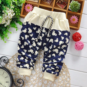 Cotton Pants Boy Fashion Cute Cartoon Baby Clothing Girl Brand Pants Casual Children Pants Boys 7-24 Month
