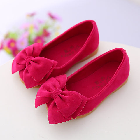 spring autumn new children's casual shoes girls princess bow solid Peas shoes safety quality non-slip shoes for kids