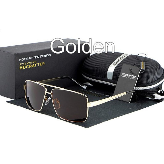 Men's Sunglasses Polarized Oversized Metal Frame Sun Glasses Eyewear For Men Luxury Brand Designer Mirror oculos Male