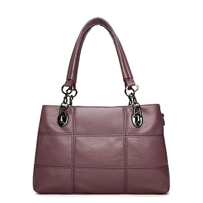 Big Women Bags Handbags Women Famous Designer Plaid Women Leather Handbags Luxury Ladies Hand Bags Shoulder Fashion Sac