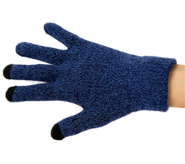 Top Lovers Winter Sporting Warm 3-Finger Touch Screen Gloves for iphone/ipad All Smartphone,Woolen Knitted Gloves,Brushed Neri