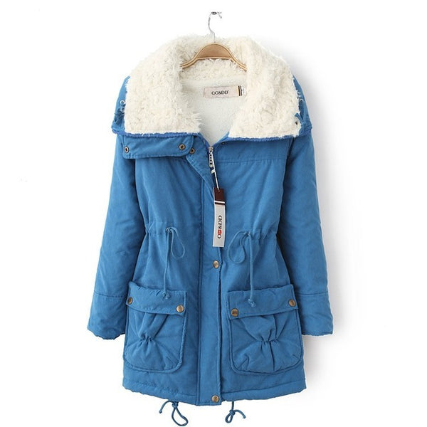 New Autumn Winter Jacket Coat Women Parka Woman Clothes Solid Long Jacket Slim Women's Winter Jackets And Coats CC107
